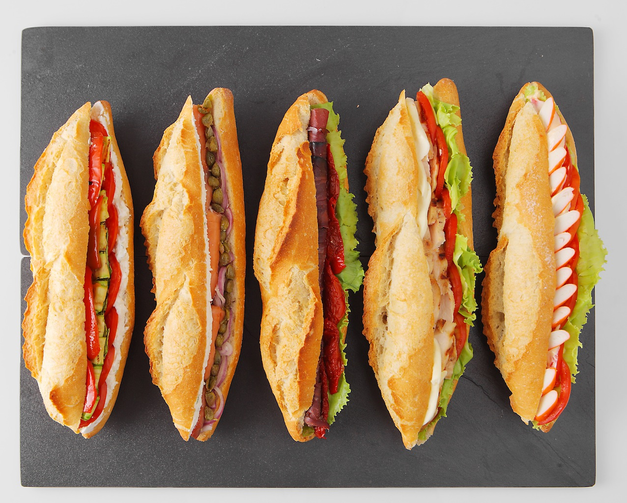 baguette sandwich selection